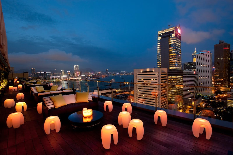 rooftop bar with a view